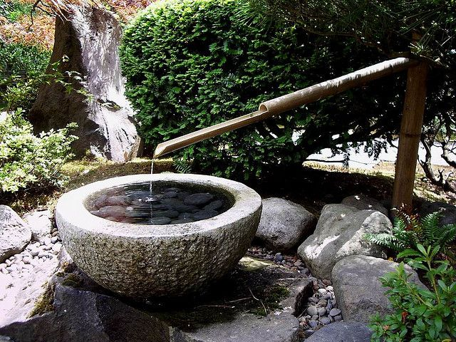 A Japanese Water Fountain Making A Lovely Trickling Sound At The Japanese  Gardens, Portland, Oregon. July Love This!