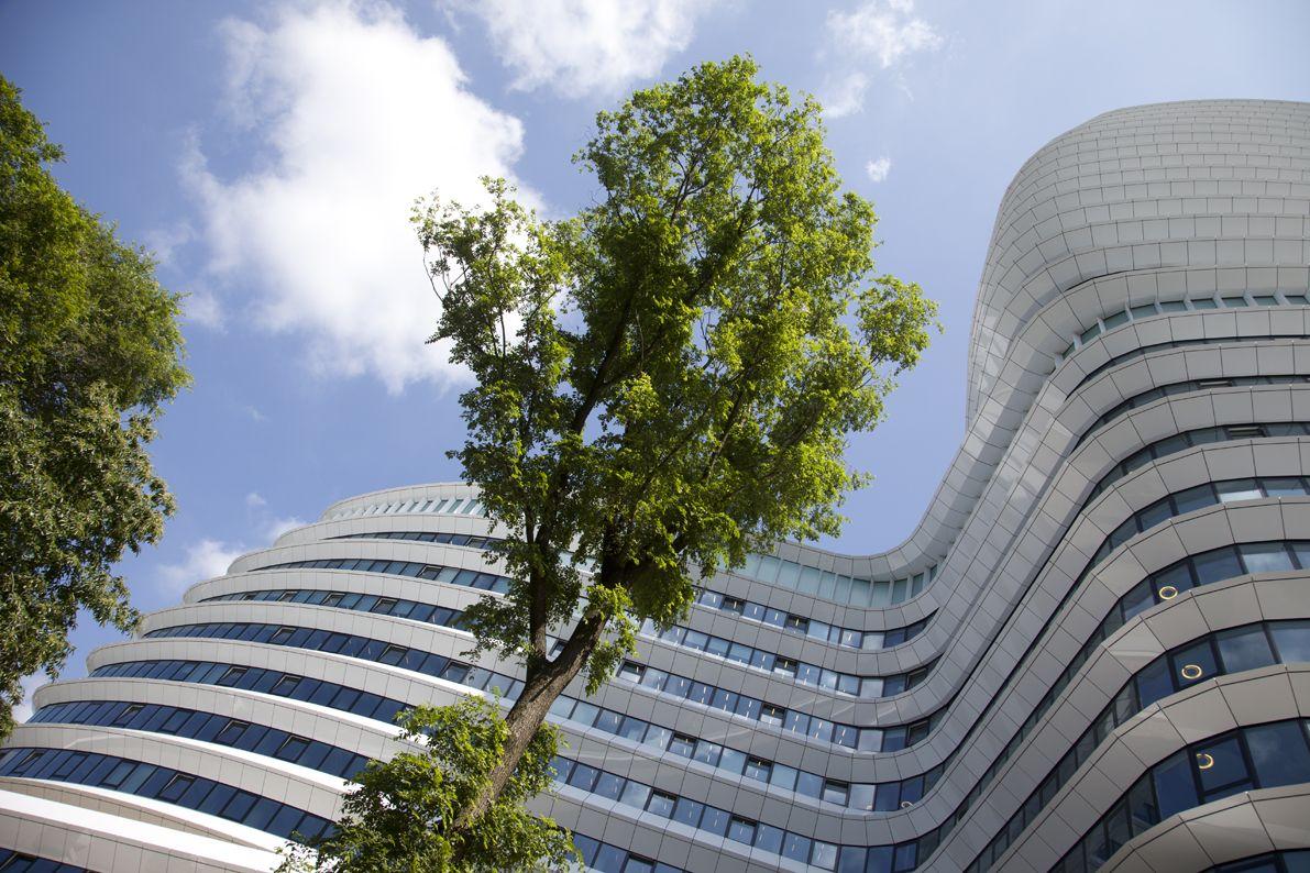 Nice organic forms of the tax office Groningen Netherlands. Architect: Ben van Berkel, UNStudio, Amsterdam, Netherlands