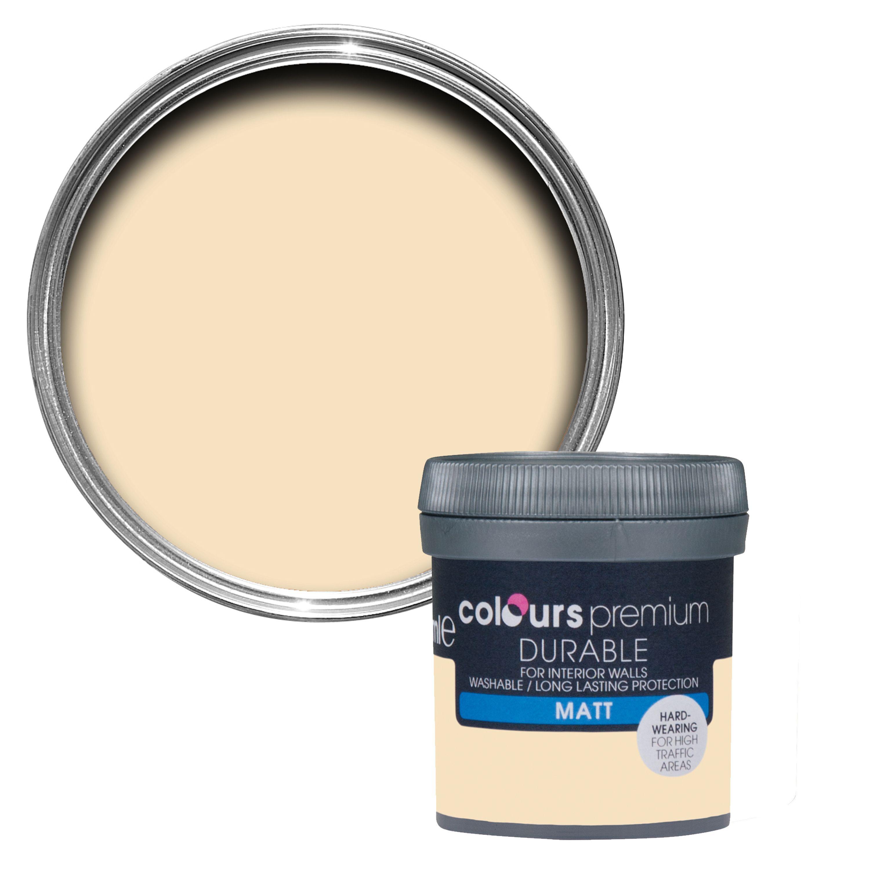 Colours Durable Custard Cream Matt Emulsion Paint 50ml