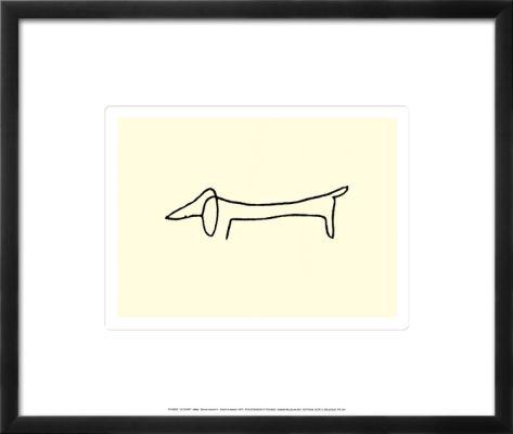 The Dog Pre-made Frame by Pablo Picasso at Art.com