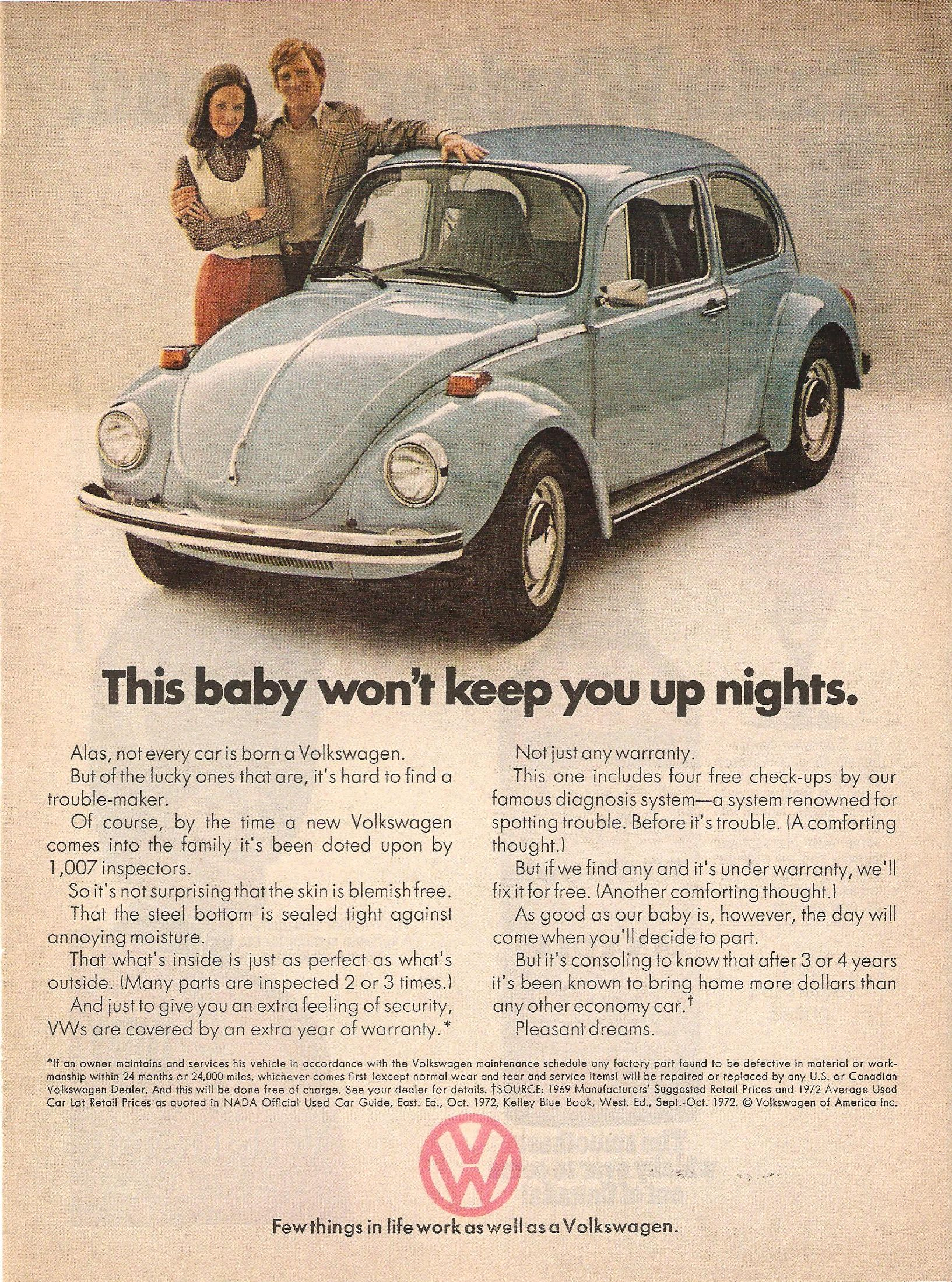 vw advertising in the seventies from classic ddb to a new direction rh pinterest com