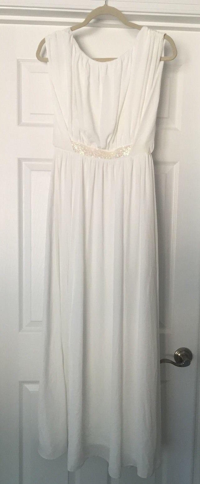 new asos petite long dress white sexy gorgeous size party