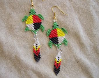 traditional native american beaded earrings by