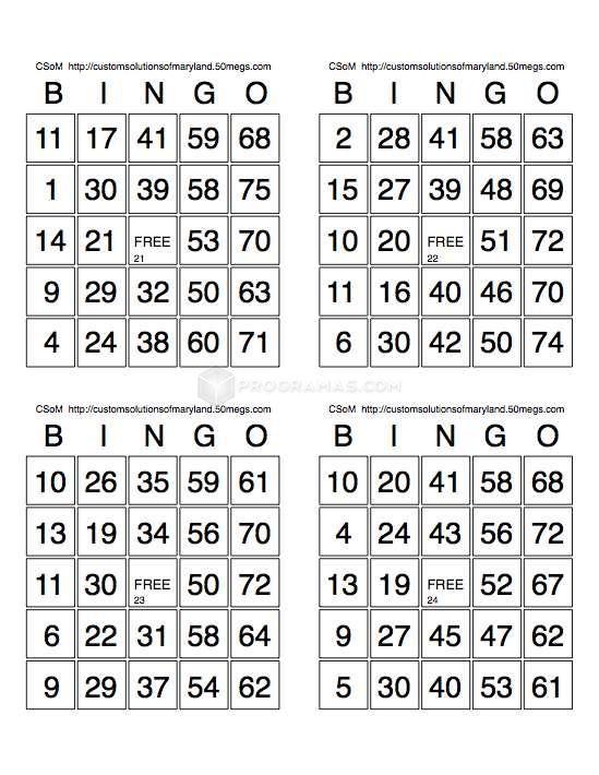 Pin On Tablas De Bingo