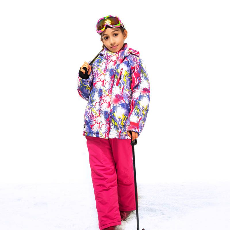 21f3759ca Girls Winter Suit Skiing Clothes Windproof Waterproof Jacket Lassie ...