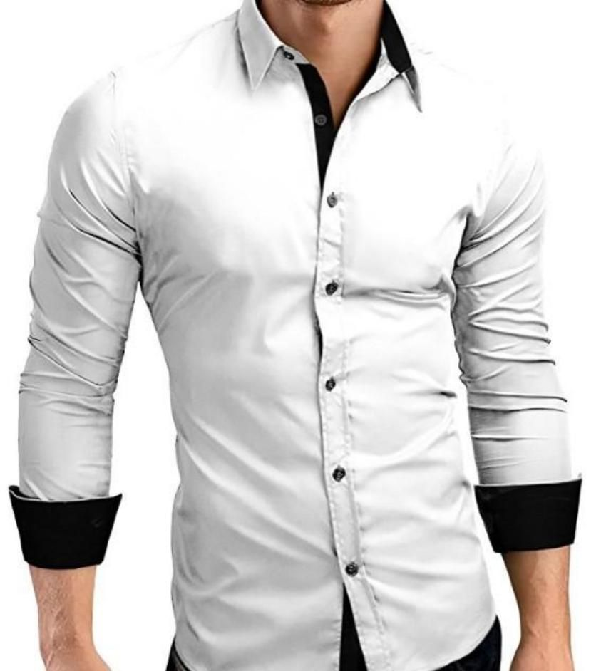 Mens Slim Fit Button Front Long Sleeve Shirt Mens Shirt Dress Casual Shirts For Men Mens Shirts [ 942 x 850 Pixel ]