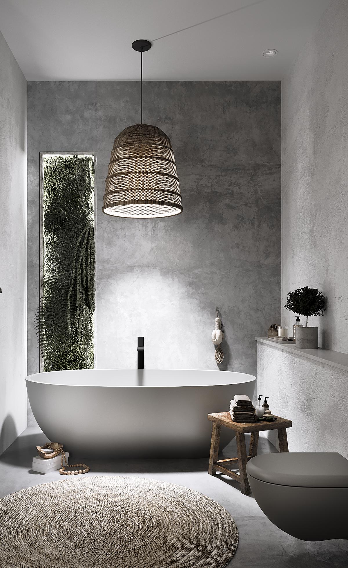 #lvng#bathroom#grey#green#nature#dream#living#design
