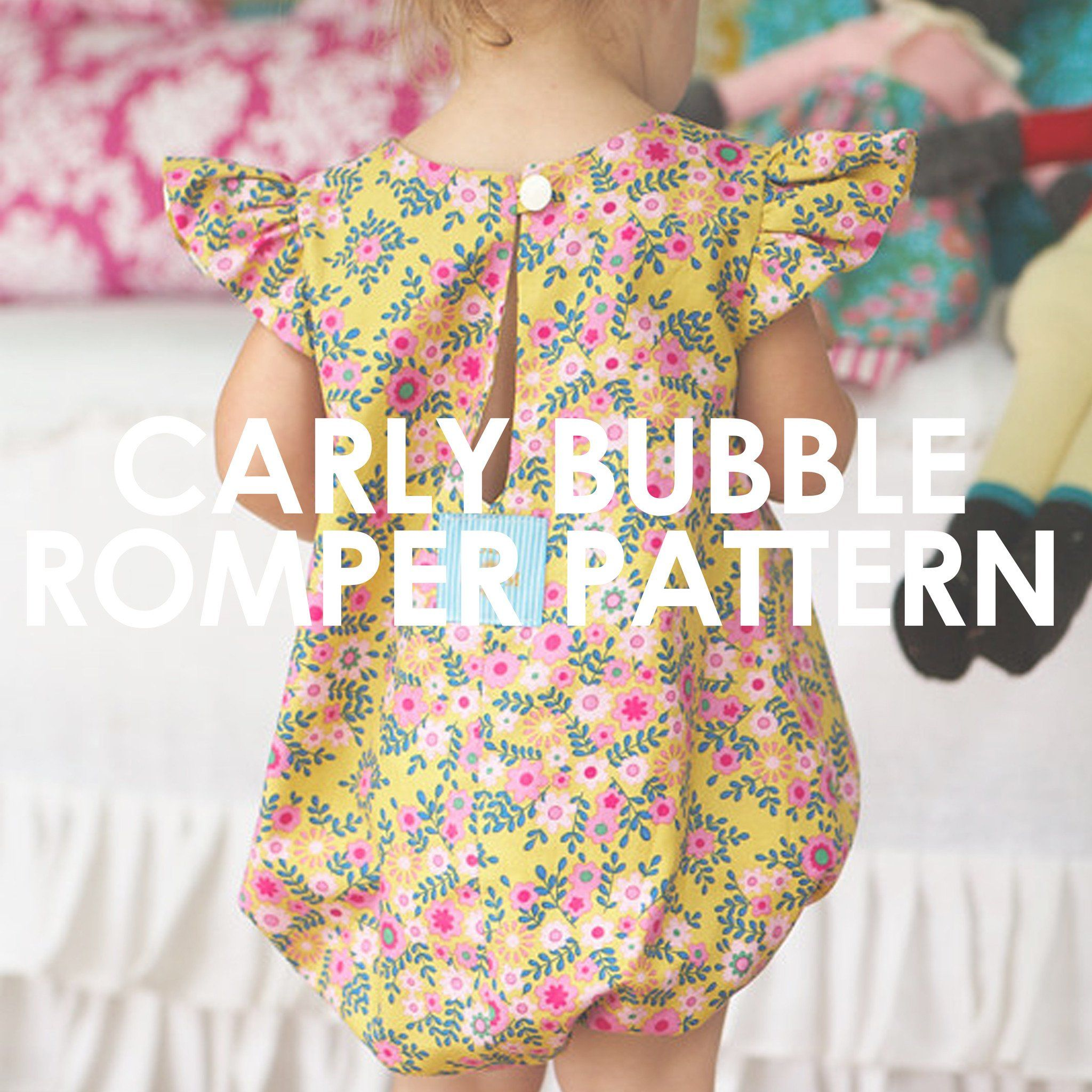 49c33e717 Carly Bubble Romper | Sewing Ideas | Baby romper pattern free, Baby ...