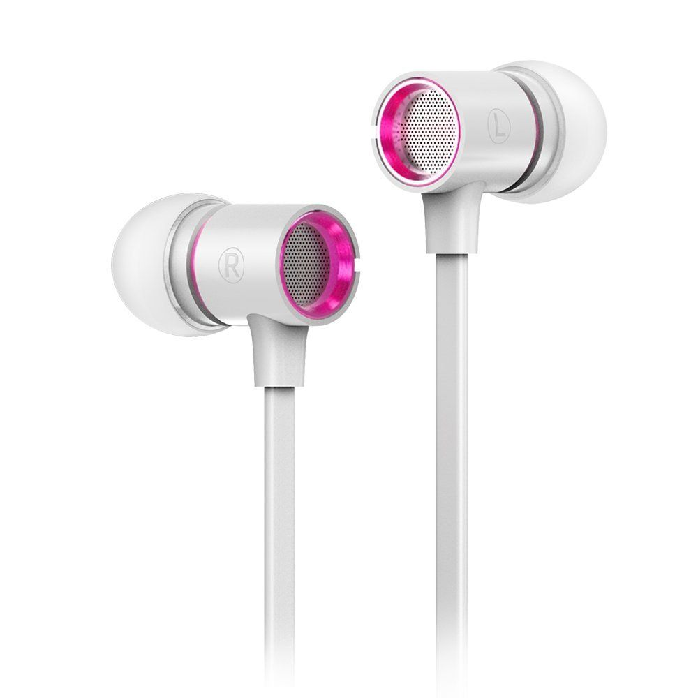 Amazon.com: WOYING W8 Stereo Wired In-Ear Earbud Heavy Bass ...