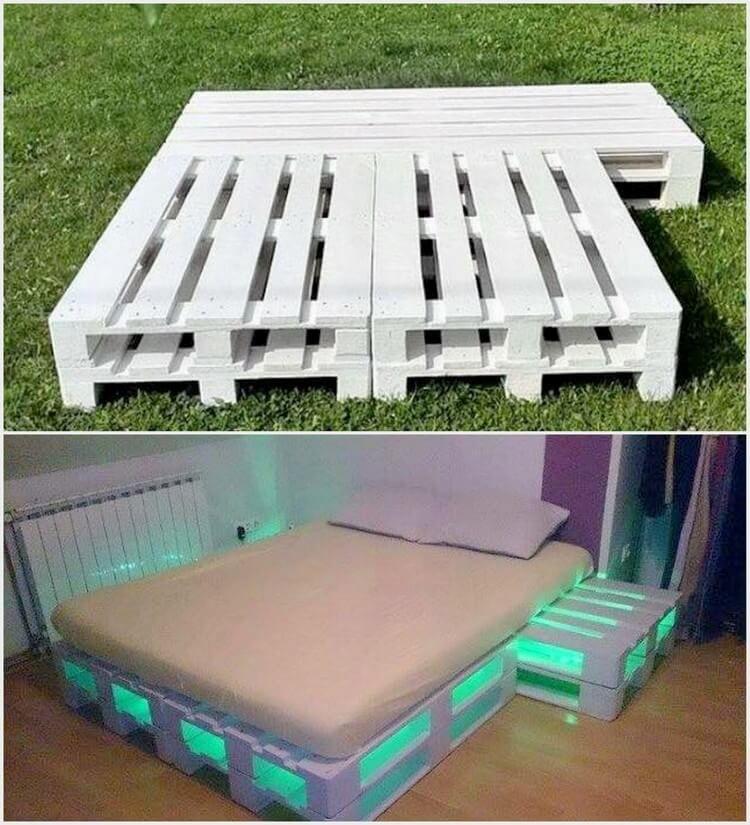 25 DIY Recycling-Holzpaletten-Projekte Probieren Sie Zuhause aus #palletbedroomfurniture