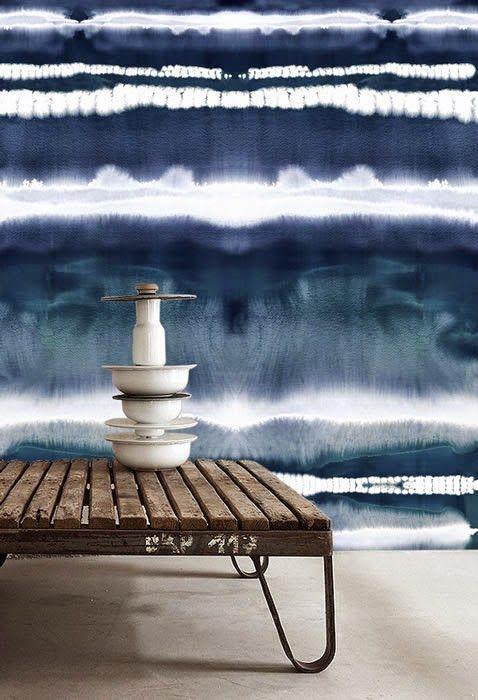 WATERCOLOR WALL Interiors Pinterest Papier peint, Peindre et