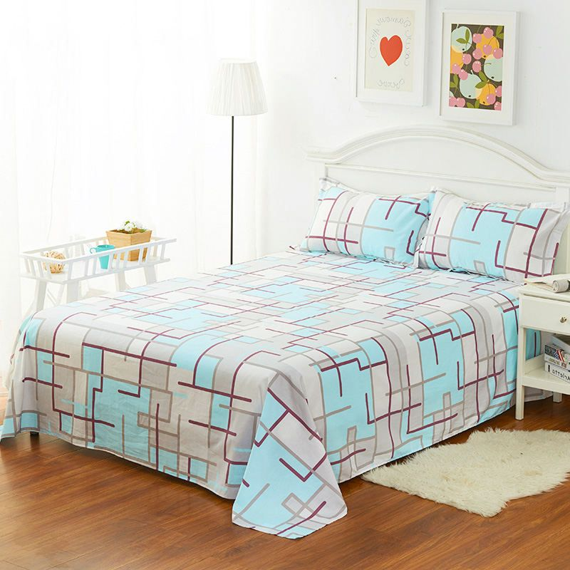 High Quality Home Flat Sheet For 1 2m Bed 160 230cm 1pcs 100 Cotton