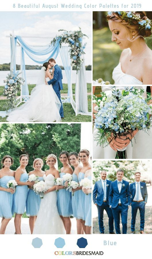 8 Beautiful August Wedding Color Palettes for 2019