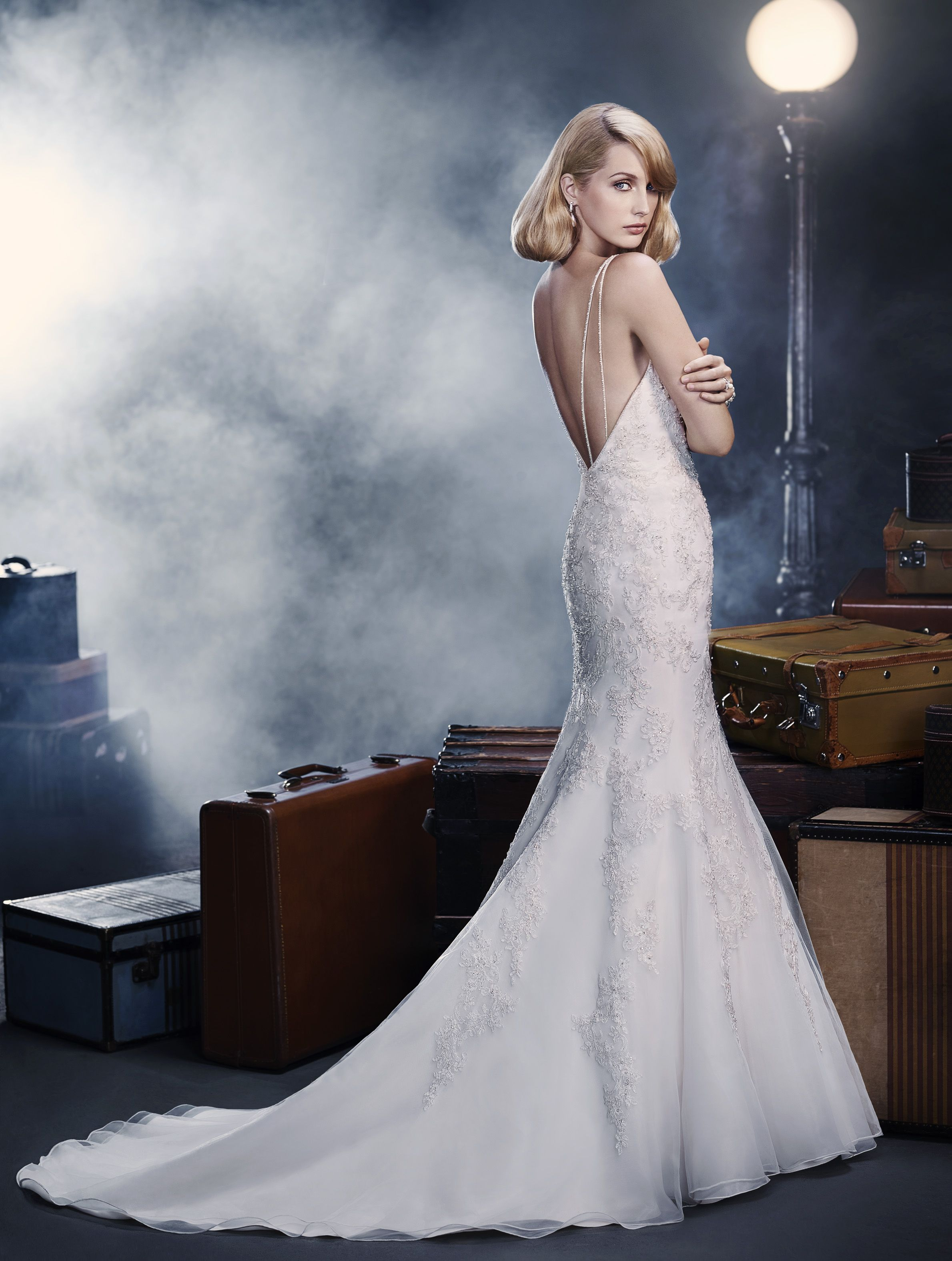 Amazing Silver And White Wedding Dress Collection - All Wedding ...