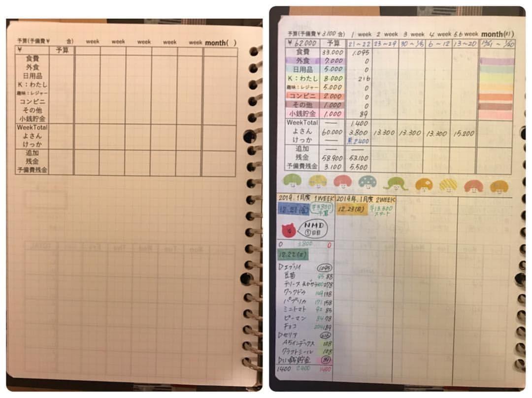 おがちゃん 家計簿 日常さんはinstagramを利用しています こんにち