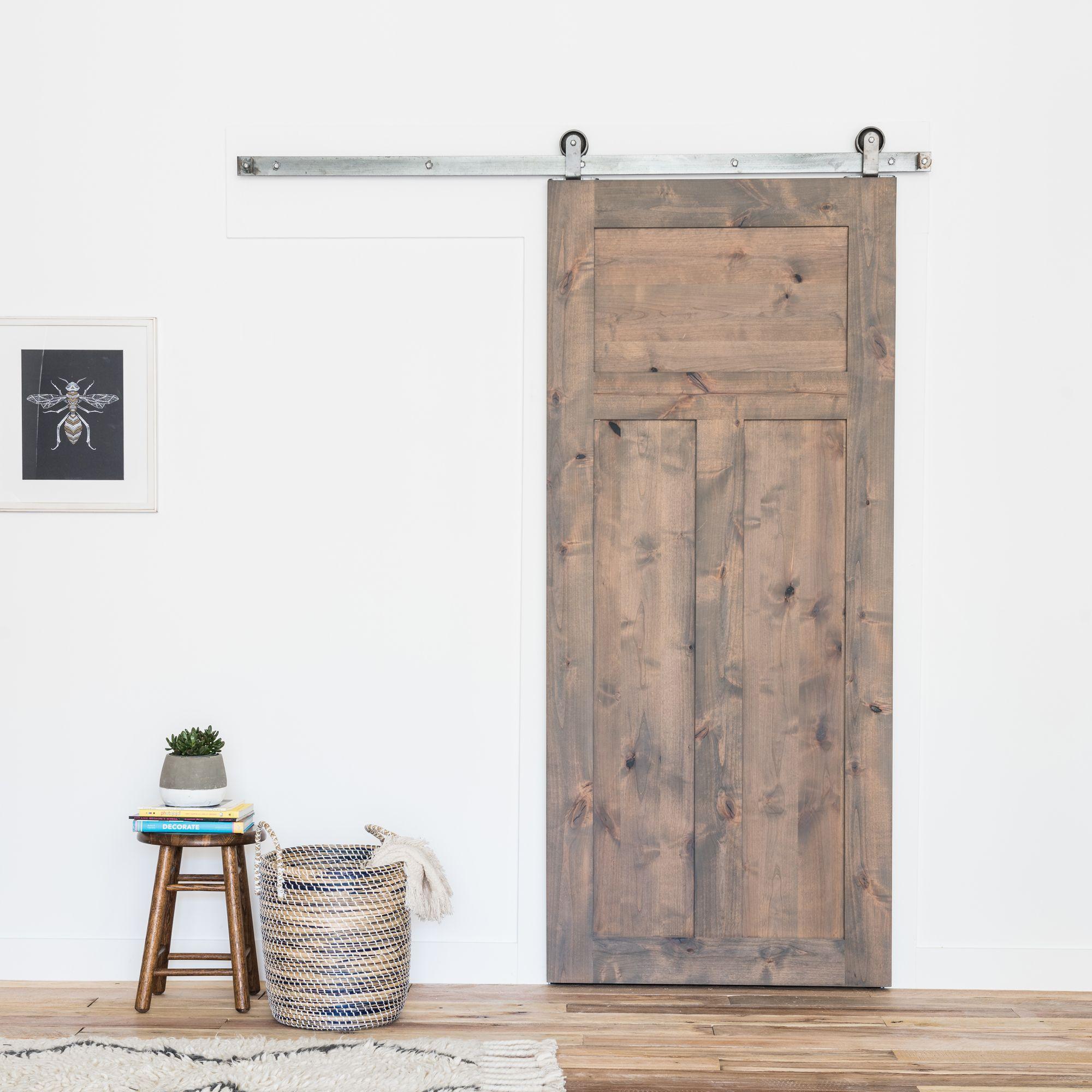 3 Panel Craftsman Sliding Barn Door Artisan Hardware Barn Style Sliding Doors Barn Doors Sliding Barn Door Designs