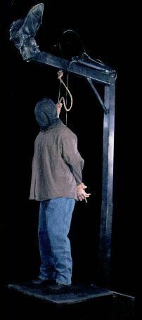 The Gallows Animatronic Haunted House Prop Halloween Hauntedhouse Hanged Man Very Disturbing