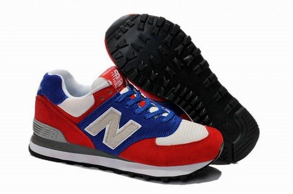 Joes New Balance 574 US574W1 Blue Red Grey Womens Shoes