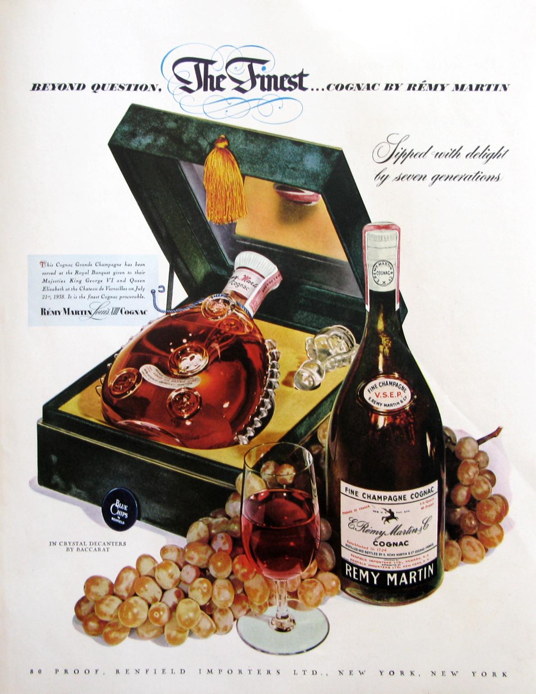 Vintage 1953 Remy Martin Cognac Ad 50s Home Bar Decor Retro Reveries Remy Martin Cognac Vintage Ads