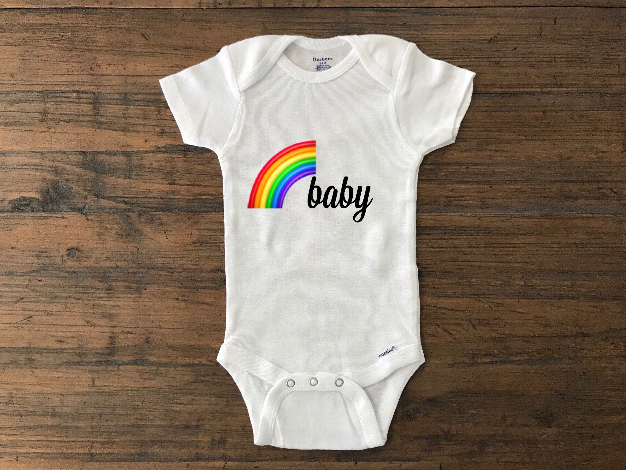 3675004a7 Excited to share the latest addition to my #etsy shop: Rainbow baby • custom  baby onesie • rainbow baby onesie • miracle baby • pregnancy announcement  ...