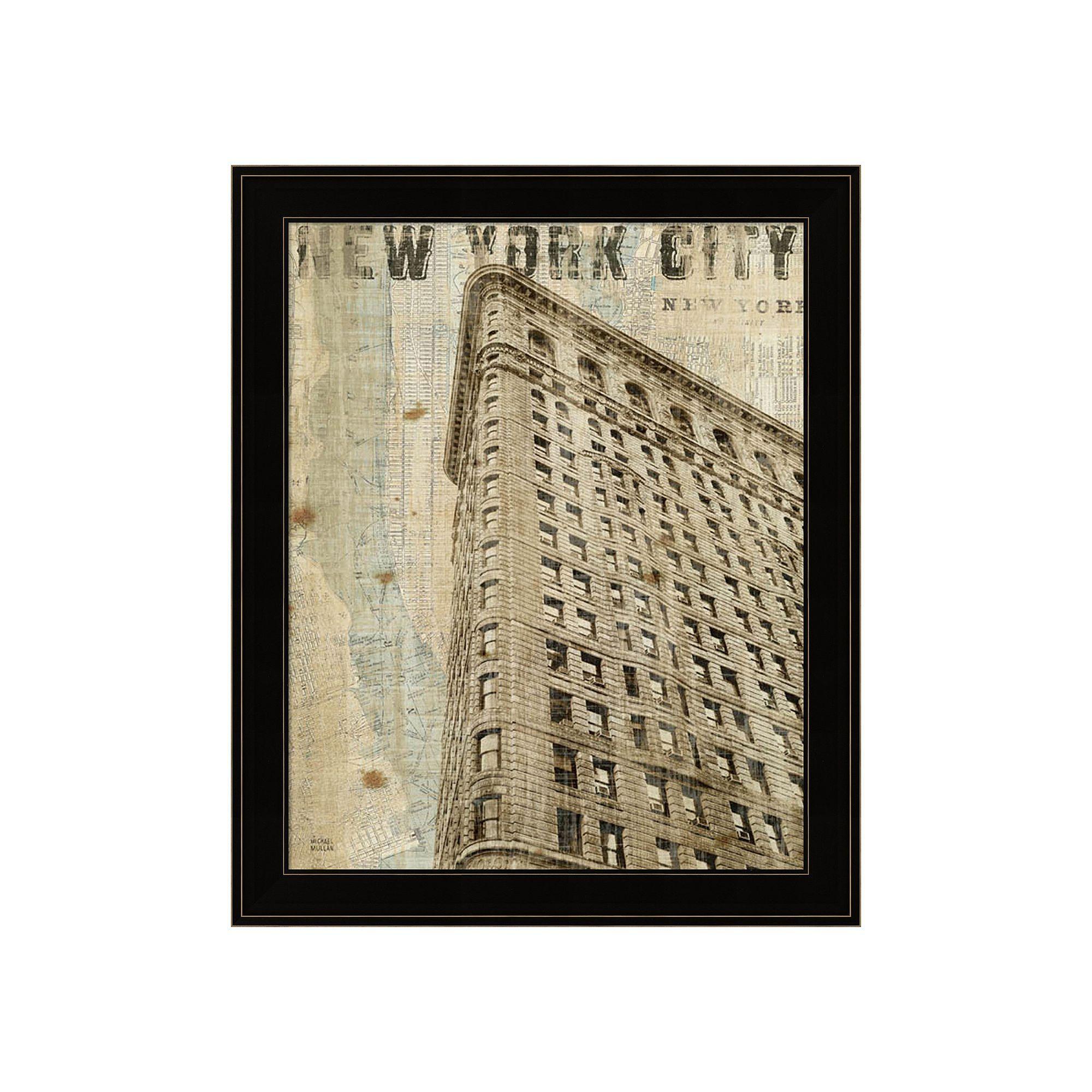Vintage NY Flat Iron Framed Wall Art, Multicolor
