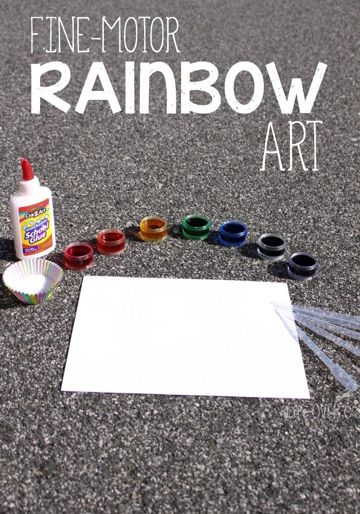 Fine Motor Rainbow Art For Preschoolers Learning With Life Over C S
