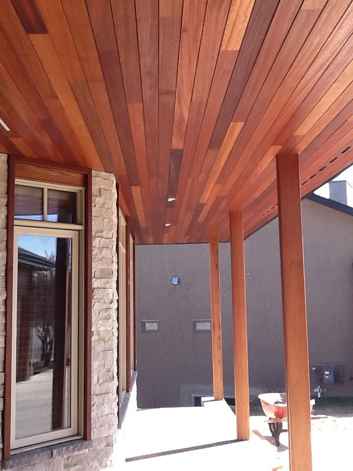 Extraordinary Dark Red Meranti 1 X 4 Tongue Groove Soffit Really Adds That Rich Mahogany Color To The Exterior Of The Hous Mahogany Color House Design House