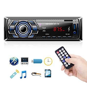 clair et distinctif chercher haut de gamme authentique Autoradio Bluetooth, 1 Din Radio de Voiture Audio, Stereo FM ...