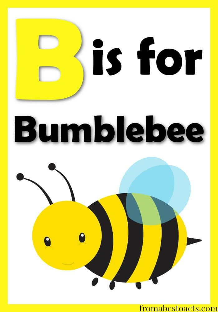 b is for bumblebee preschool theme unit
