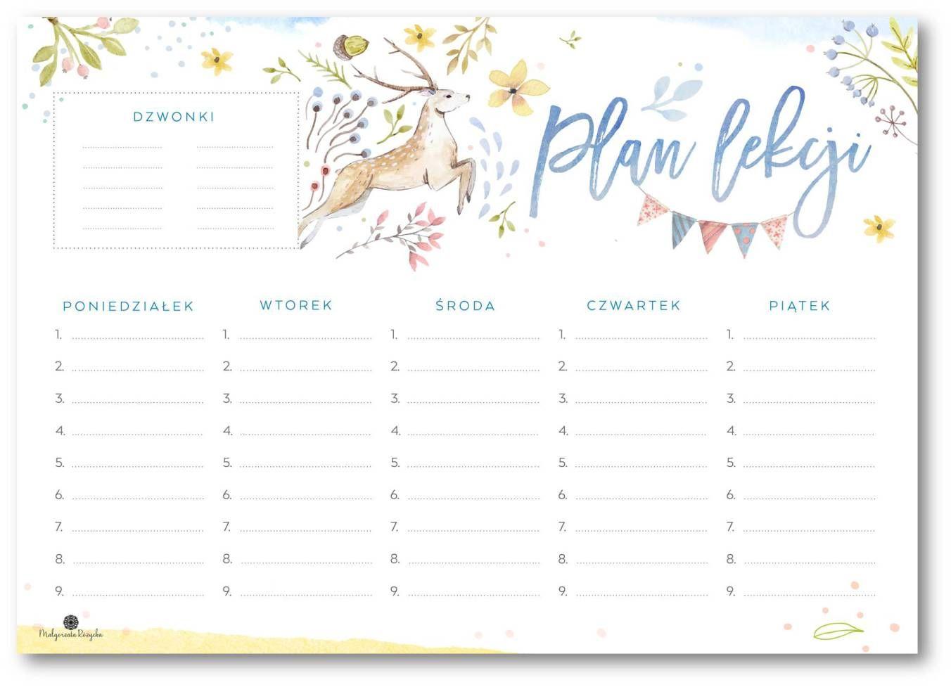 Plany Lekcji School Timetable School Planner Timetable Planner