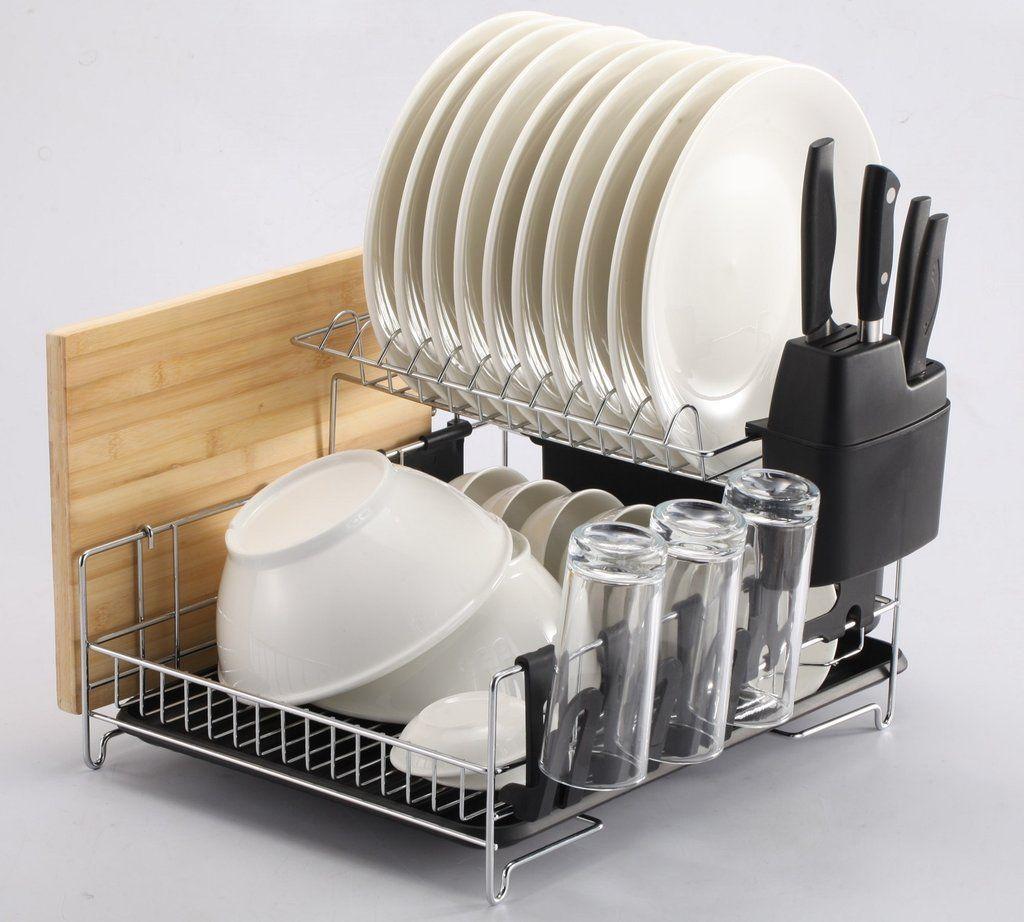 Amazon Partner Technobuffalo Votes Premium Racks Professional Dish Rack In 2020 Dish Rack Drying Dish Racks Dish Drainers