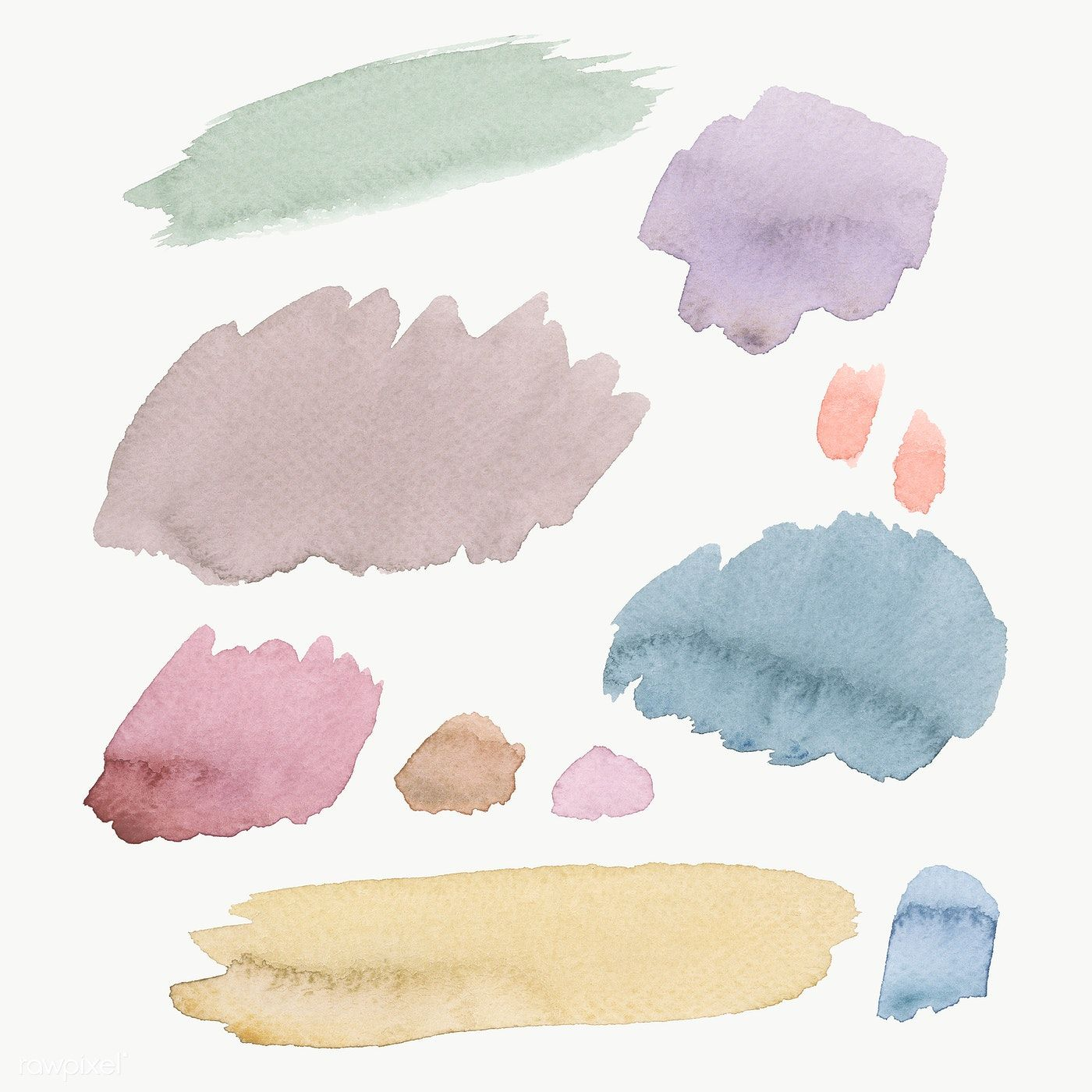Colorful Watercolor Brush Strokes Transparent Png Free Image By