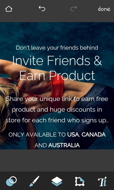 Get free yoga products by signing up and inviting friends! With your first five friends you get your first product:) Click the link connected to the photo to sign up!