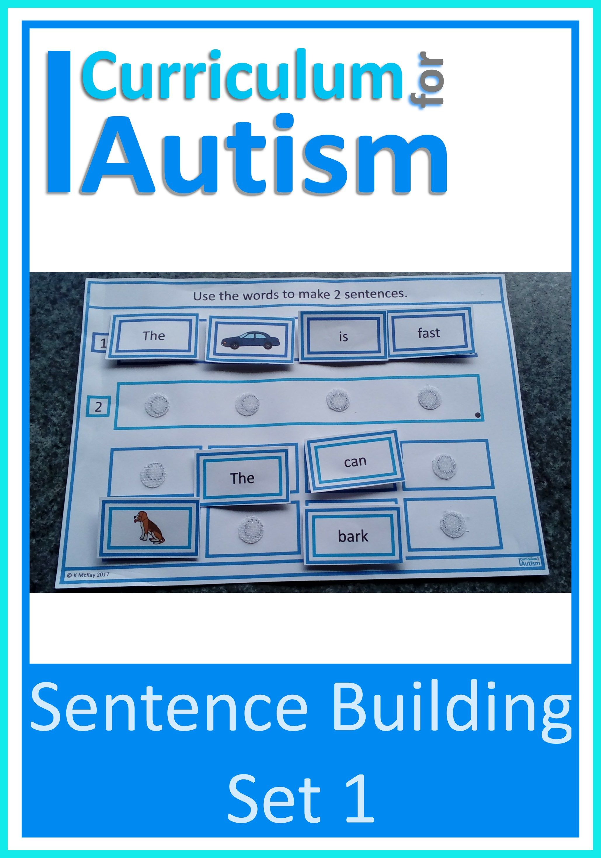 Sentence Building Set 1 In With Images
