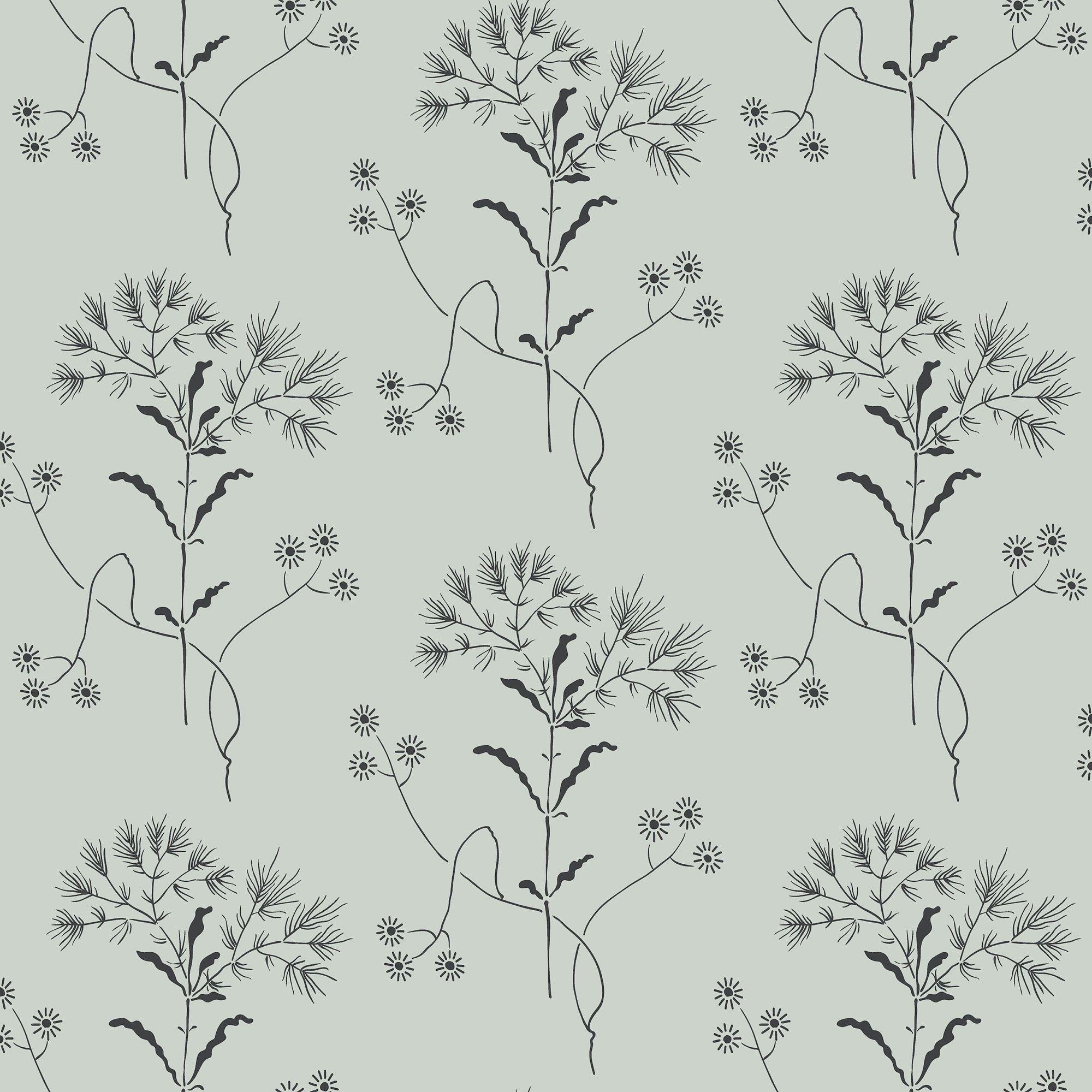 Magnolia Home Wildflower Wallpaper Wedding Band Blue