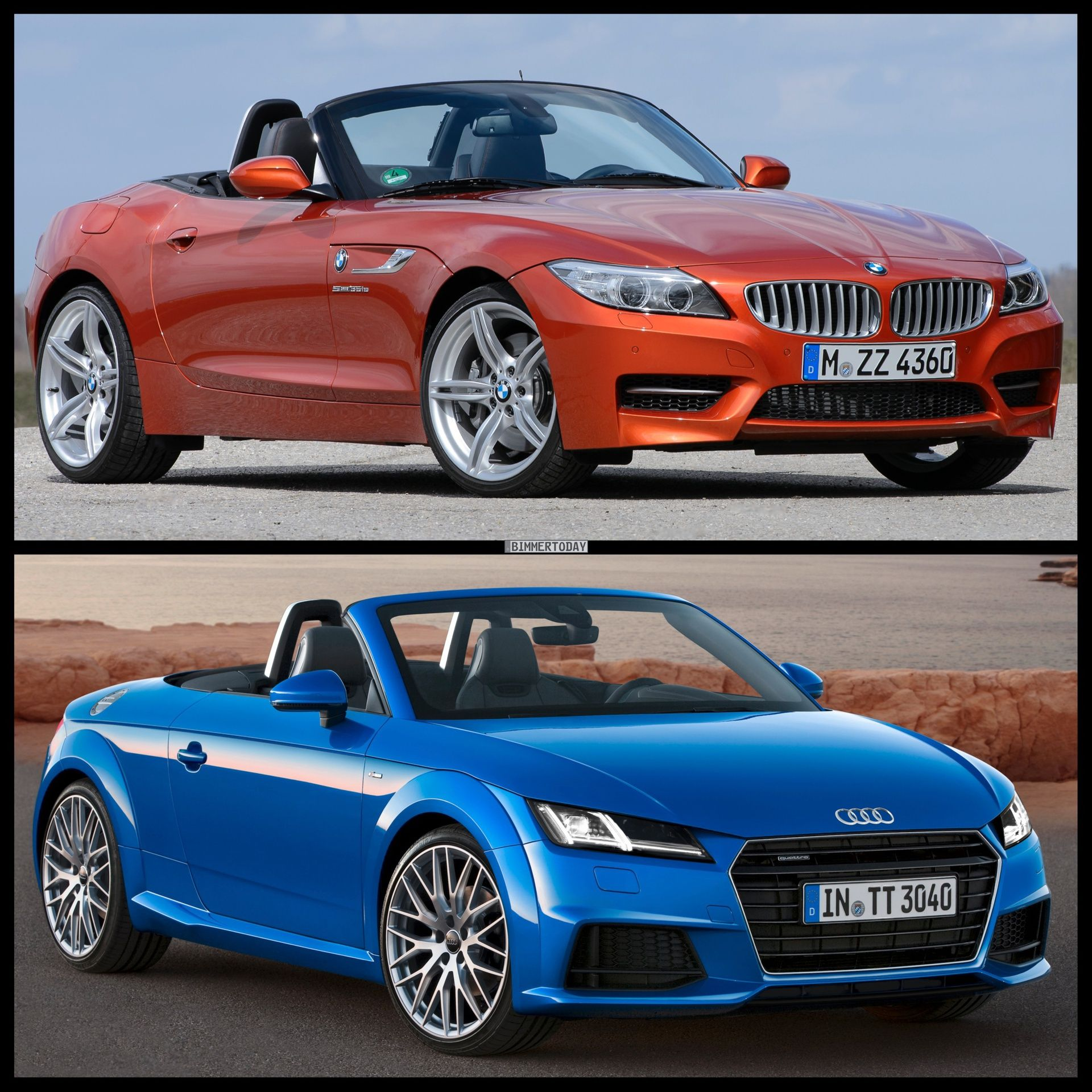 2015 audi tt roadster vs bmw z4 roadster photo comparison http