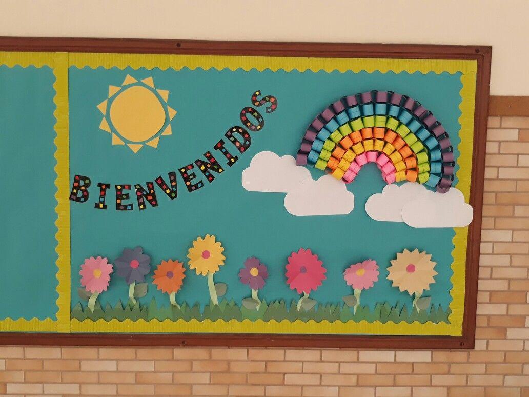 Cartelera Mural Escolar Bienvenida Primaria Colegio Escuela