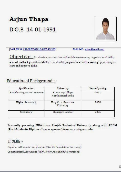 Curriculum Vitae Template Australia Sample Template Example