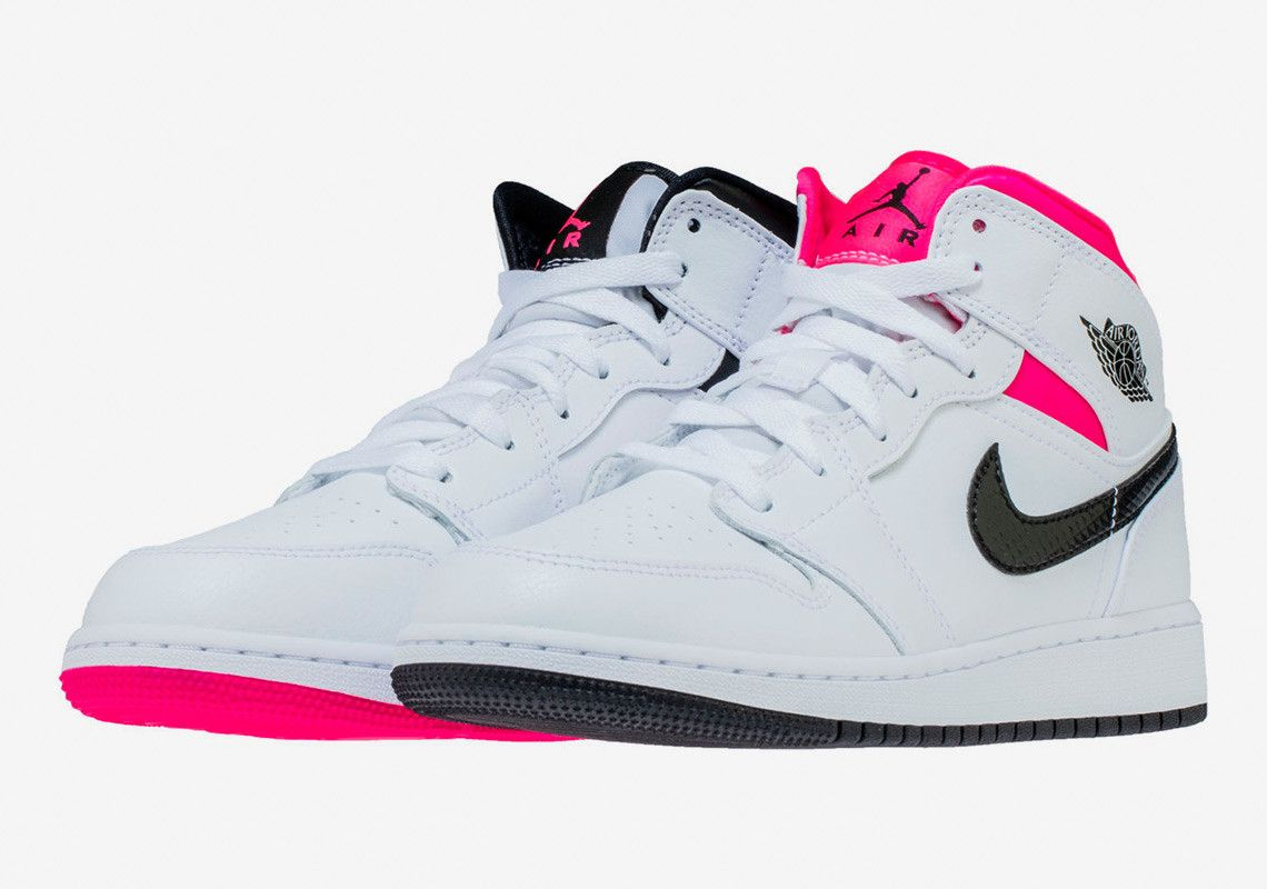 58e635dfb6d Air Jordan 1 Mid Hyper Pink 555112-106 Buy Now