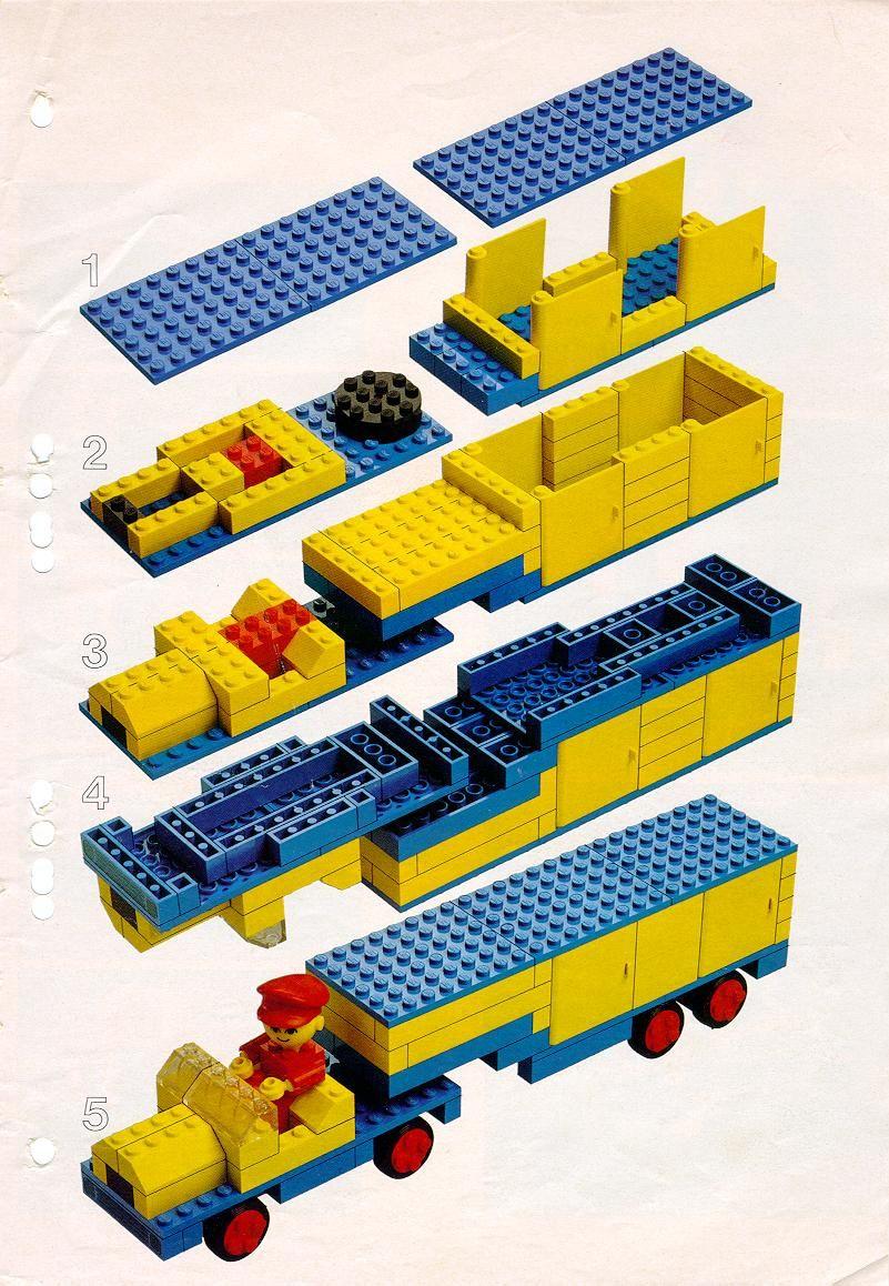 Old Lego Instructions Car With Trailer Legos Pinterest Lego