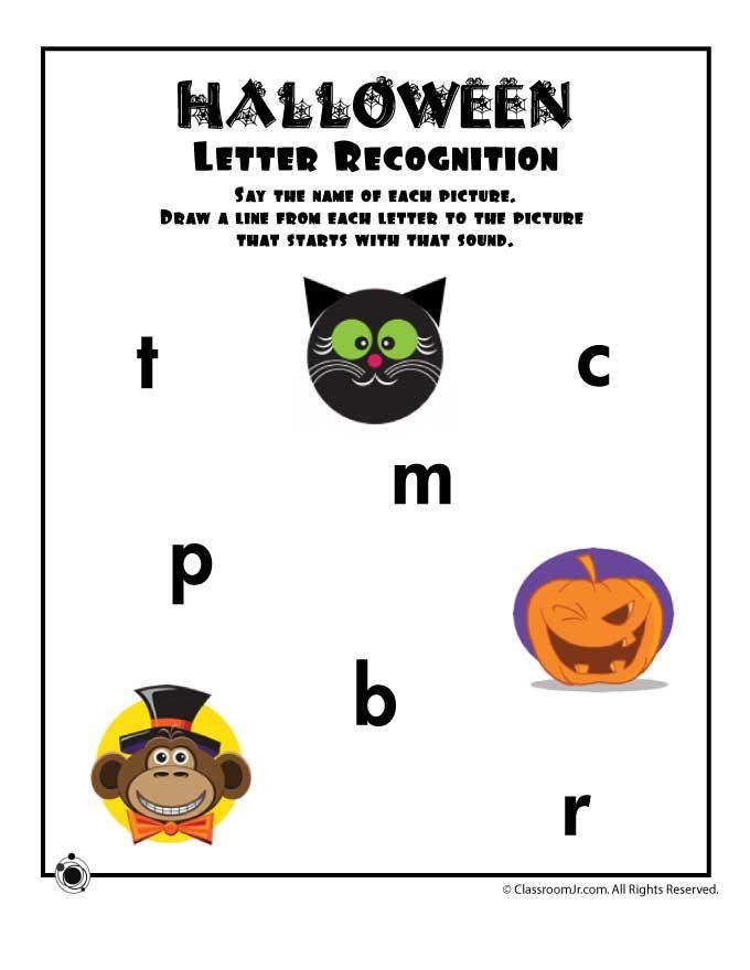 Preschool Worksheets For Halloween Letter Sound Recognition Slp