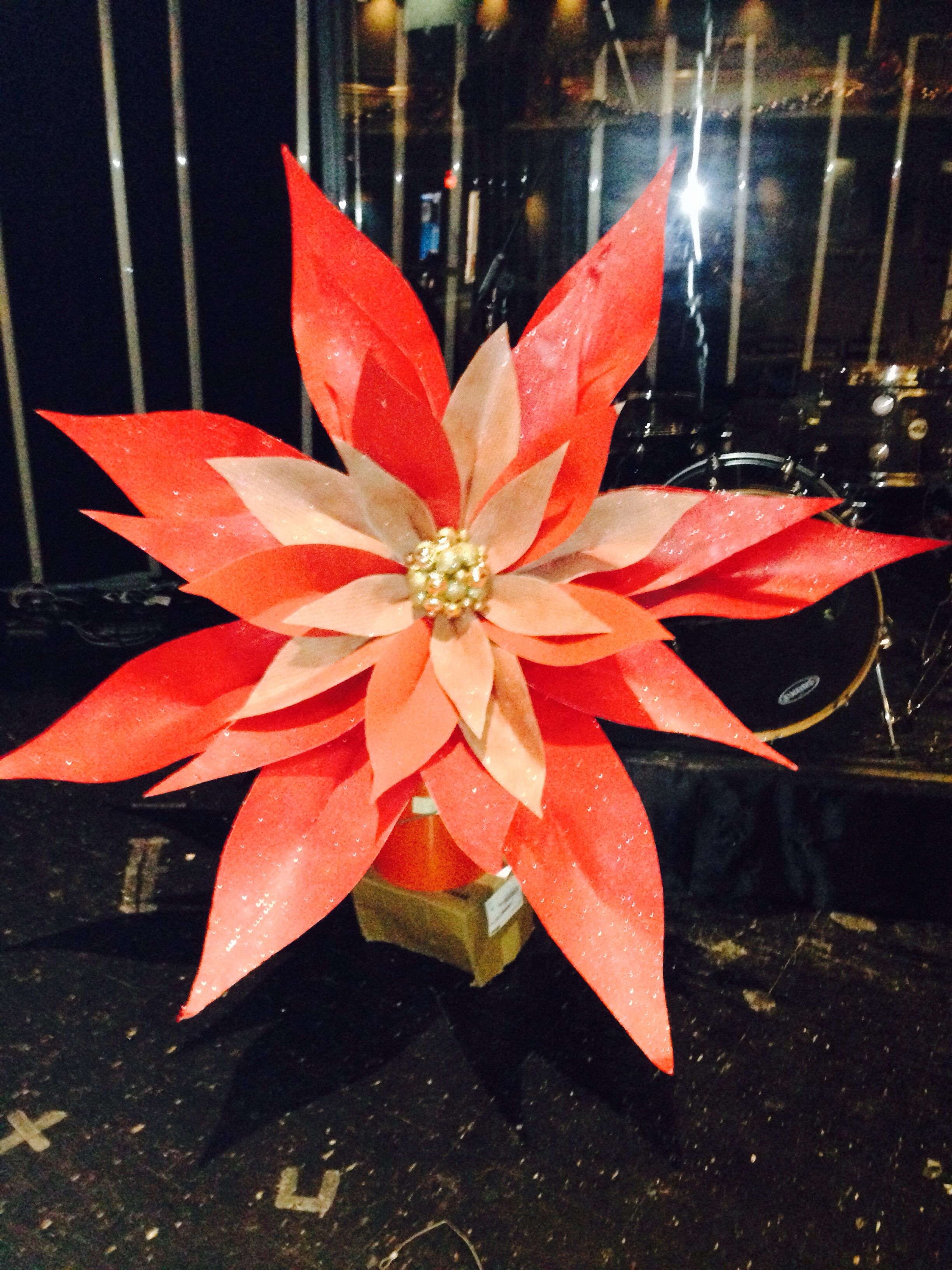 6 Ft Poinsettia Was Made From Ram Board  Petals Are Covered In Combinations  Of Red · Plastic Table ClothsPlastic ...