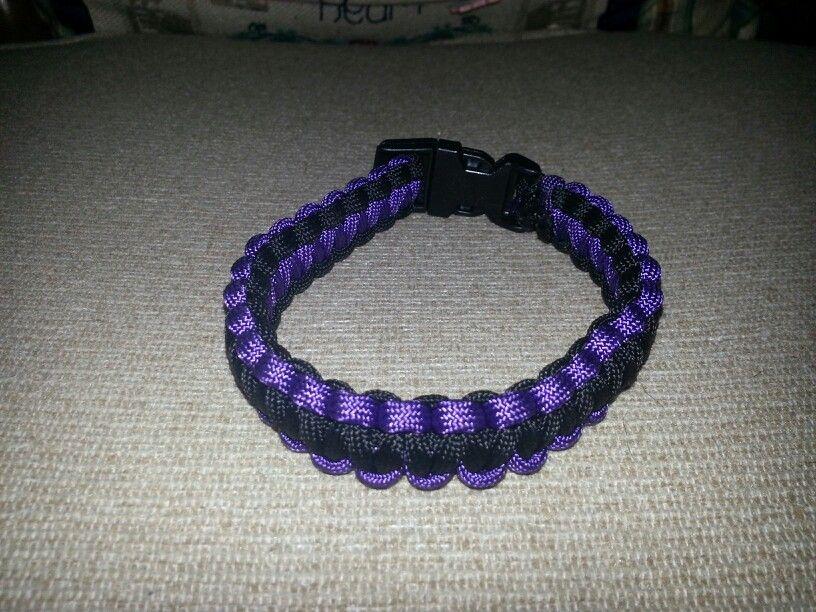 Purple and black paracord bracelet