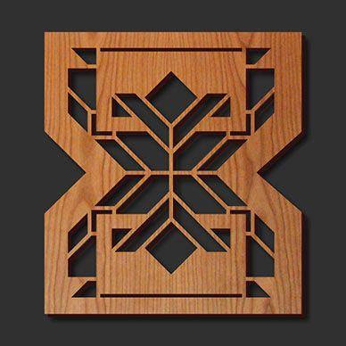 decorative frank lloyd wright designed laser cut wood trivet - Laser Cut Wood
