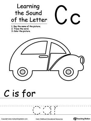 learning beginning letter sound c phonics worksheets alphabet worksheets letter sounds. Black Bedroom Furniture Sets. Home Design Ideas