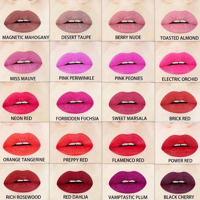 Vegane matte Lippenstifte und außergewöhnliche Farben ...