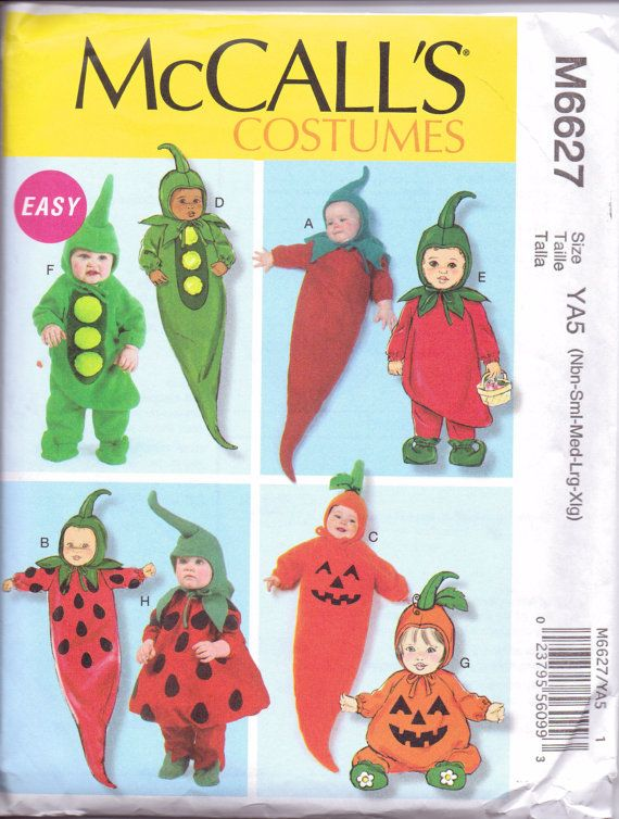 New McCalls Pattern Infant Halloween Costume By Purrfectstitchers, $5.00