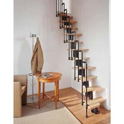 Arke Karina Black Modular Staircase Kit K33023 At The Home Depot