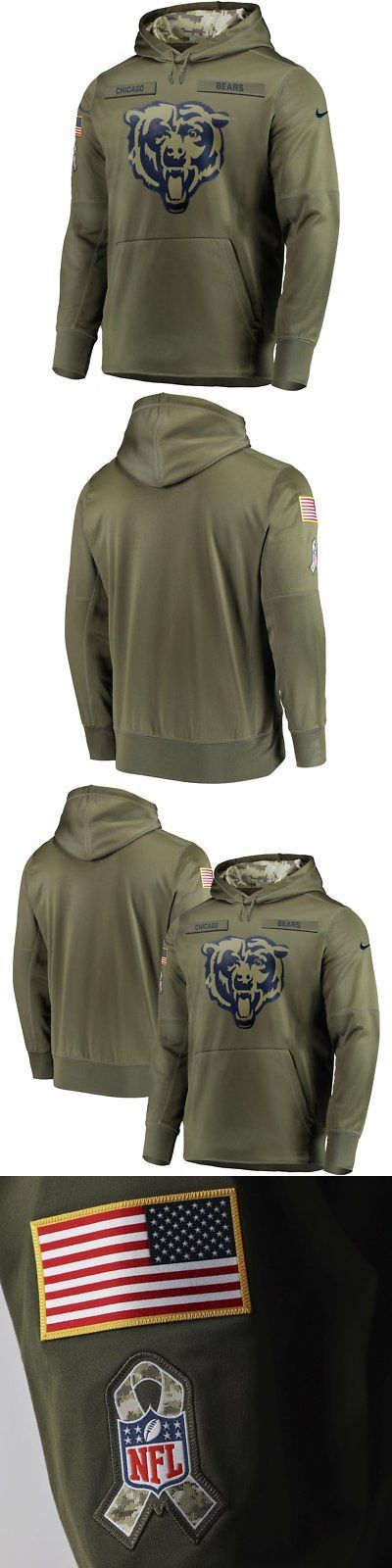 Clothing 21218  Mens Xl Nike Chicago Bears 2018 Salute To Service Hoodie  Army Military Green -  BUY IT NOW ONLY   249.99 on  eBay  clothing  chicago   bears ... 604278346