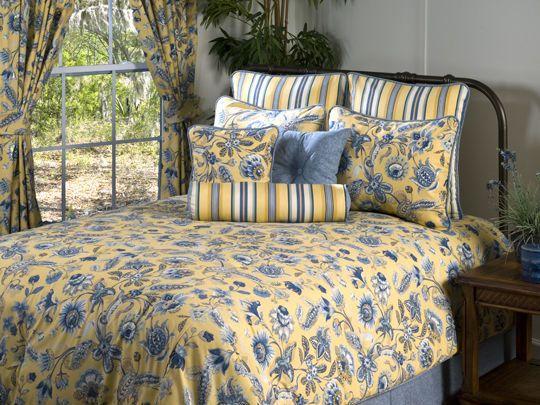 Details About Waverly Summer Splendor Blue Yellow Green